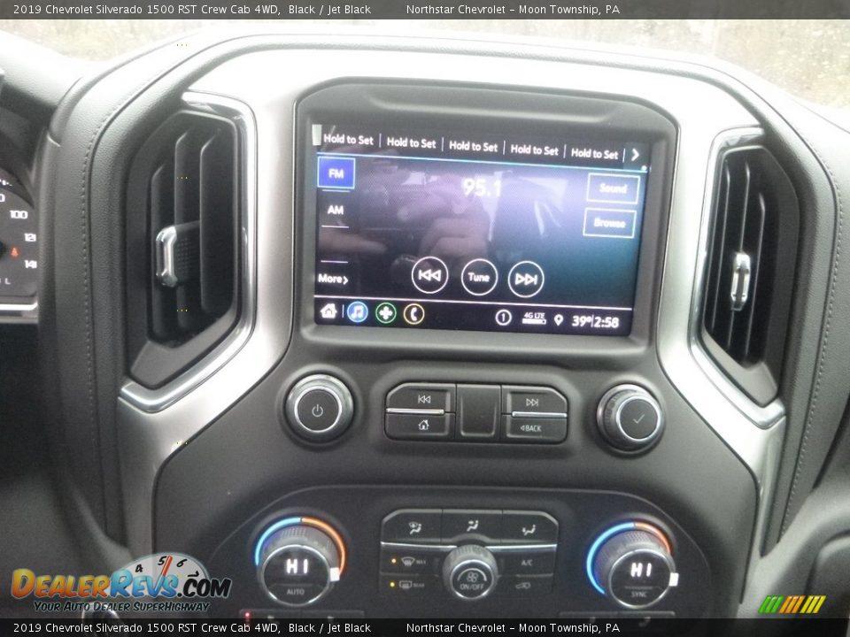 2019 Chevrolet Silverado 1500 RST Crew Cab 4WD Black / Jet Black Photo #17