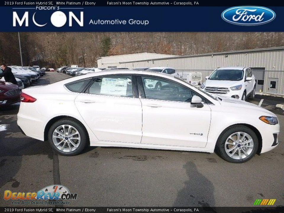 2019 Ford Fusion Hybrid SE White Platinum / Ebony Photo #1