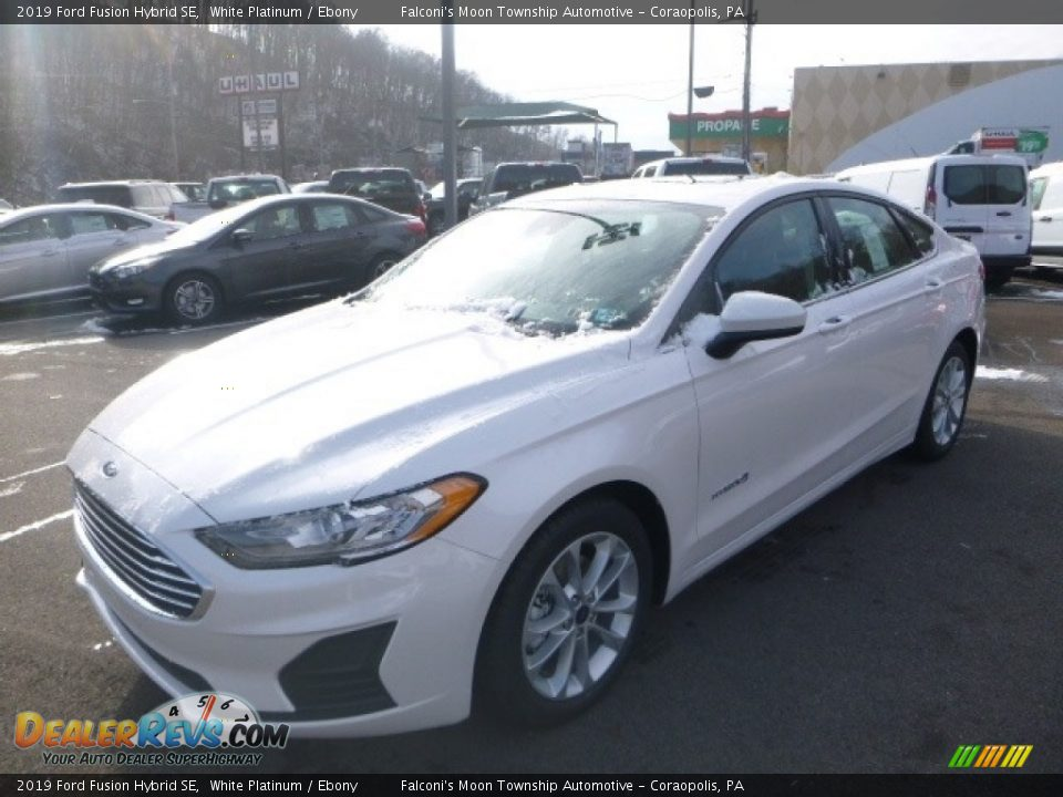 2019 Ford Fusion Hybrid SE White Platinum / Ebony Photo #5