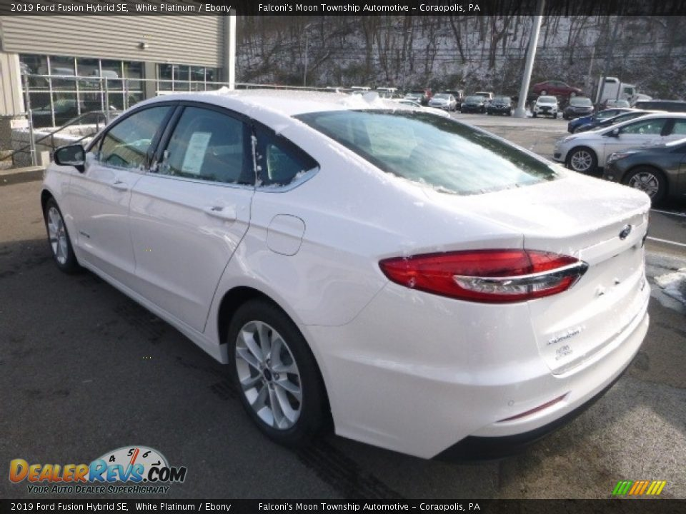 2019 Ford Fusion Hybrid SE White Platinum / Ebony Photo #6