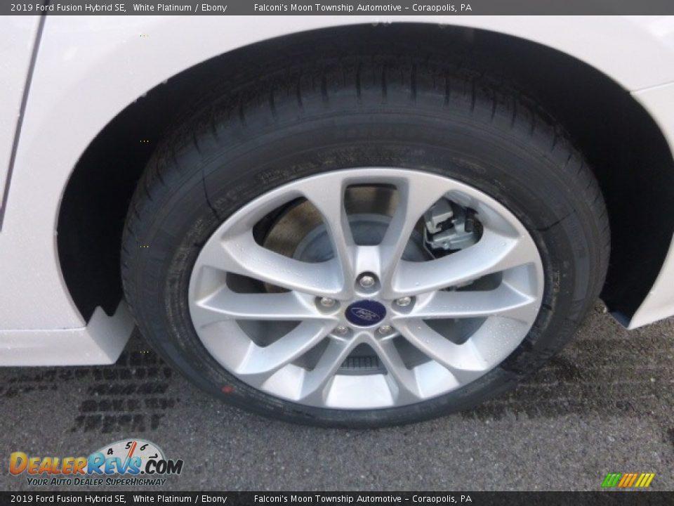 2019 Ford Fusion Hybrid SE White Platinum / Ebony Photo #7