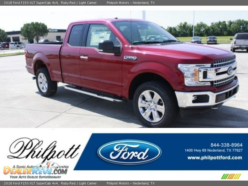 2018 Ford F150 XLT SuperCab 4x4 Ruby Red / Light Camel Photo #1