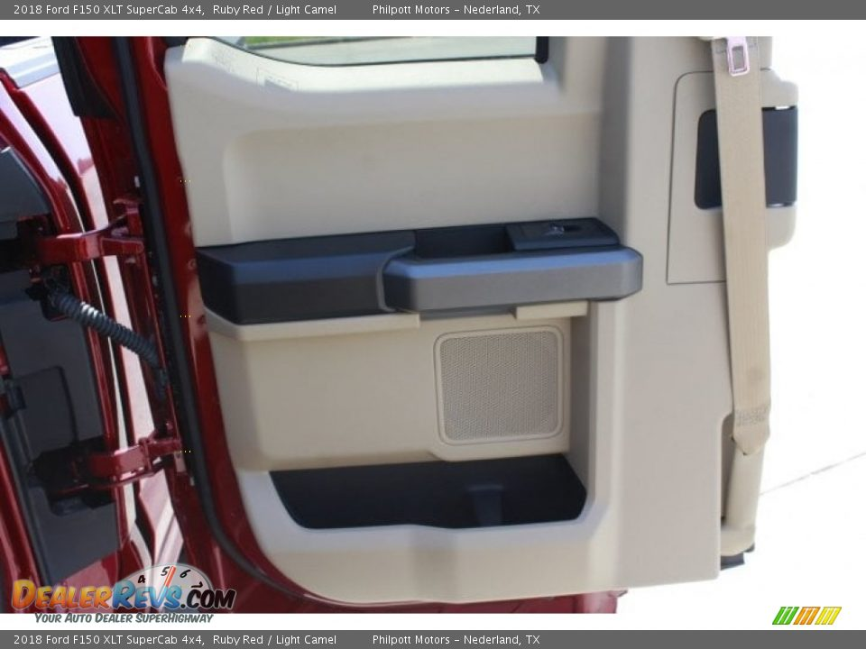 2018 Ford F150 XLT SuperCab 4x4 Ruby Red / Light Camel Photo #23