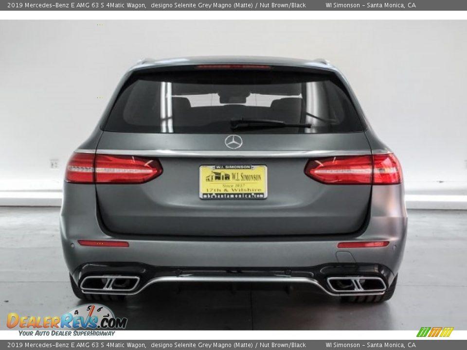 2019 Mercedes-Benz E AMG 63 S 4Matic Wagon designo Selenite Grey Magno (Matte) / Nut Brown/Black Photo #3