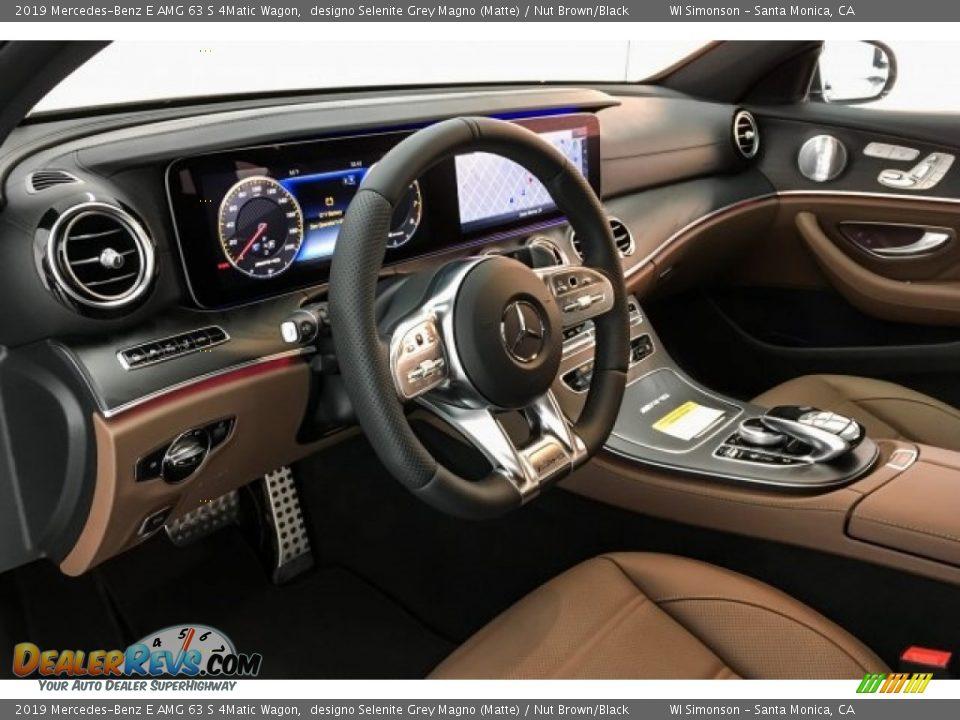 2019 Mercedes-Benz E AMG 63 S 4Matic Wagon designo Selenite Grey Magno (Matte) / Nut Brown/Black Photo #4