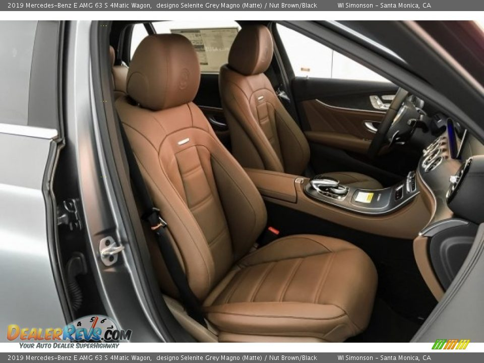 Nut Brown/Black Interior - 2019 Mercedes-Benz E AMG 63 S 4Matic Wagon Photo #5