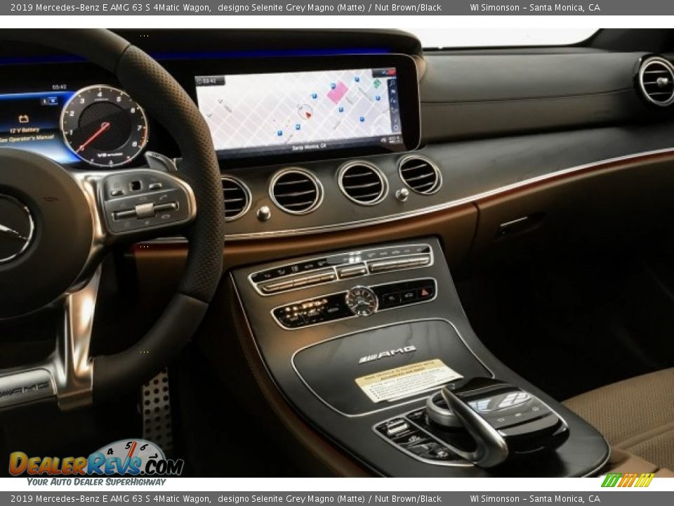 Dashboard of 2019 Mercedes-Benz E AMG 63 S 4Matic Wagon Photo #6