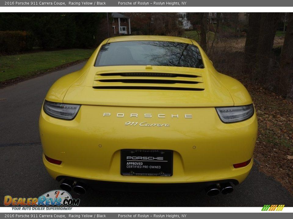 2016 Porsche 911 Carrera Coupe Racing Yellow / Black Photo #5