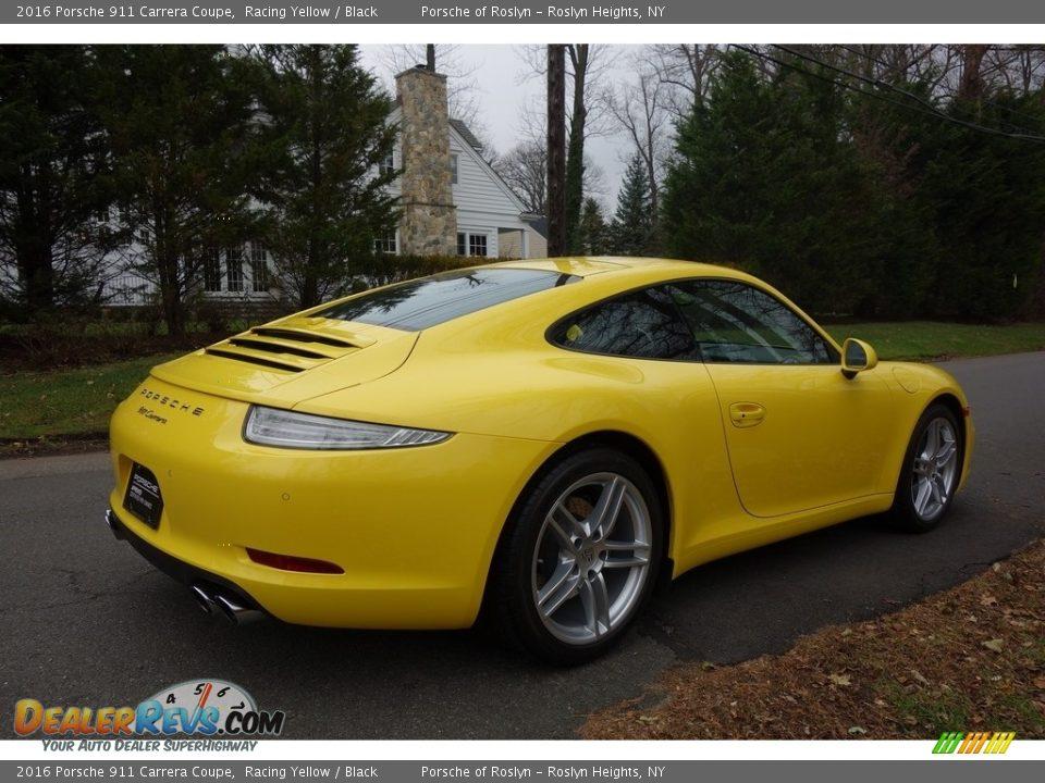 2016 Porsche 911 Carrera Coupe Racing Yellow / Black Photo #6