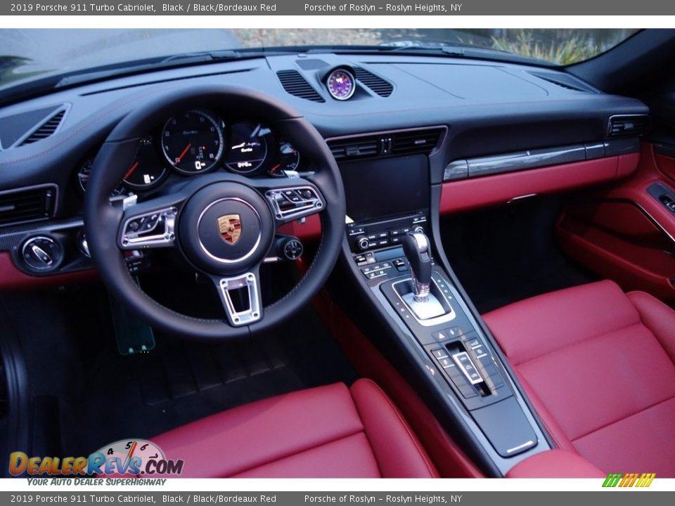 Black/Bordeaux Red Interior - 2019 Porsche 911 Turbo Cabriolet Photo #10