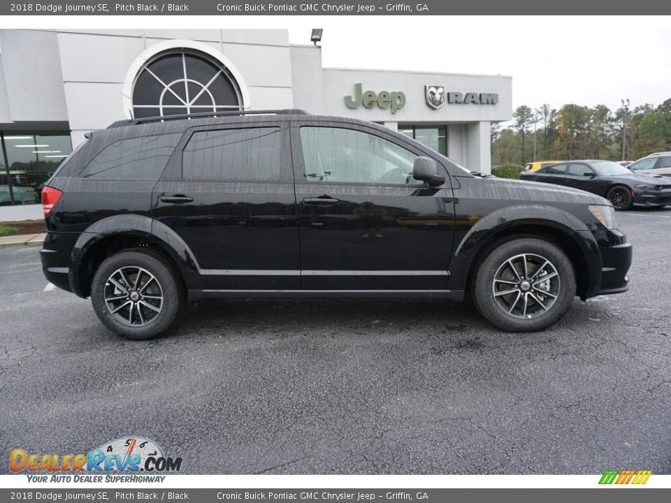 2018 Dodge Journey SE Pitch Black / Black Photo #10