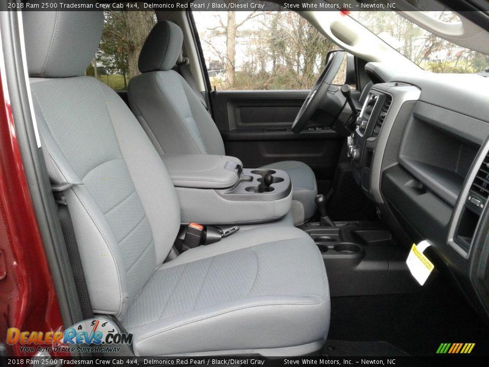 2018 Ram 2500 Tradesman Crew Cab 4x4 Delmonico Red Pearl / Black/Diesel Gray Photo #14