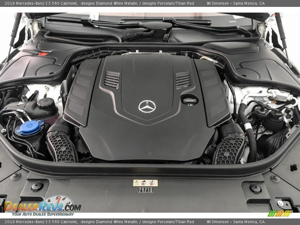 2019 Mercedes-Benz S S 560 Cabriolet 4.0 Liter biturbo DOHC 32-Valve VVT V8 Engine Photo #9