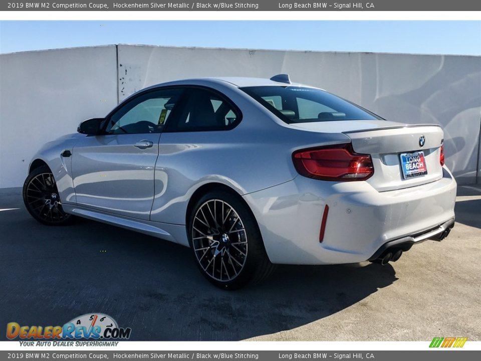 2019 BMW M2 Competition Coupe Hockenheim Silver Metallic / Black w/Blue Stitching Photo #2