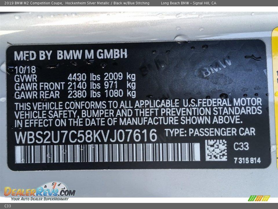 BMW Color Code C33 Hockenheim Silver Metallic