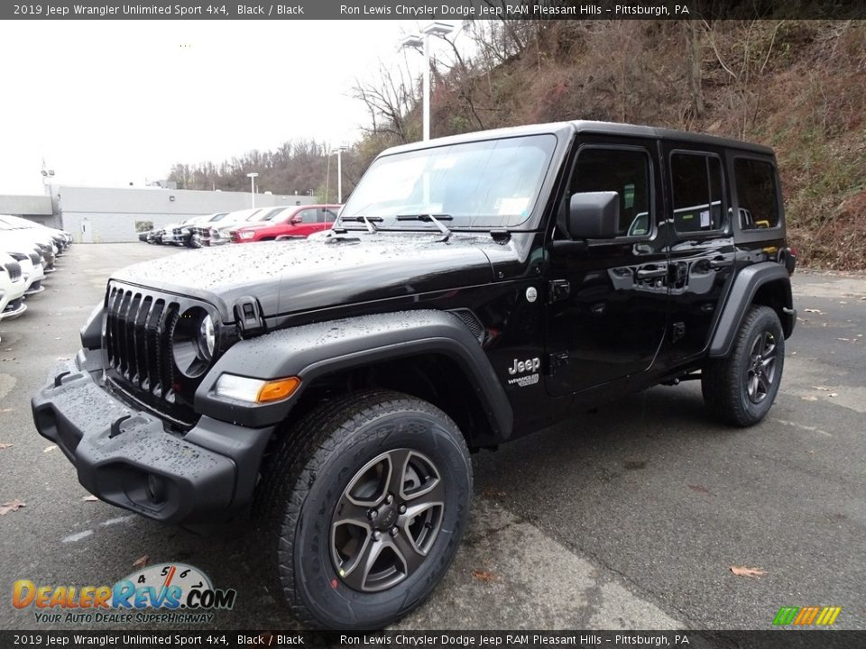 2019 Jeep Wrangler Unlimited Sport 4x4 Black / Black Photo #1