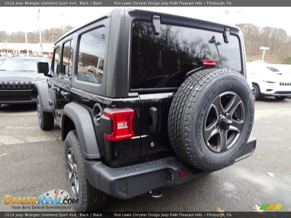 2019 Jeep Wrangler Unlimited Sport 4x4 Black / Black Photo #3