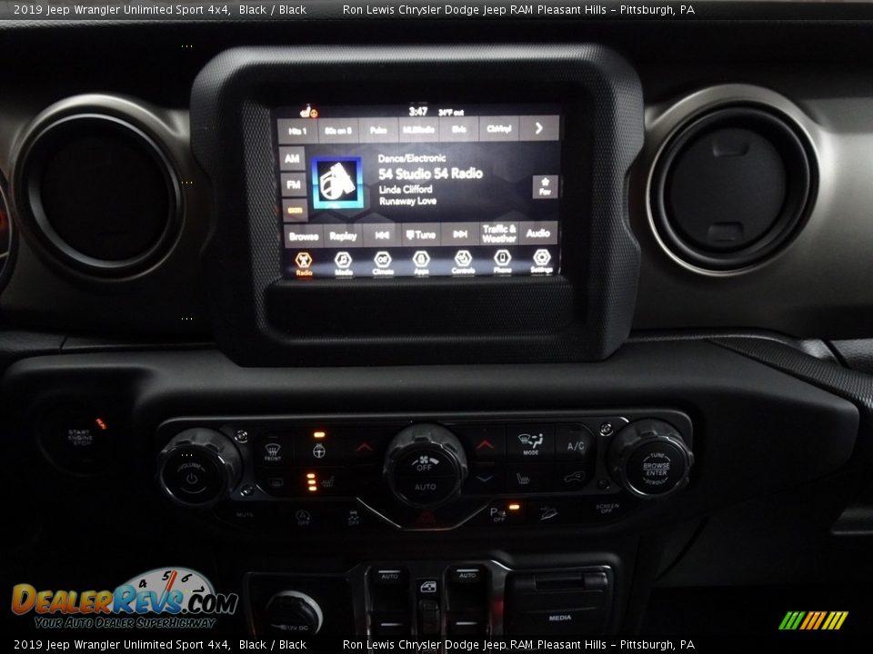 2019 Jeep Wrangler Unlimited Sport 4x4 Black / Black Photo #15