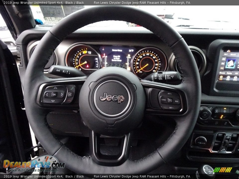 2019 Jeep Wrangler Unlimited Sport 4x4 Steering Wheel Photo #18