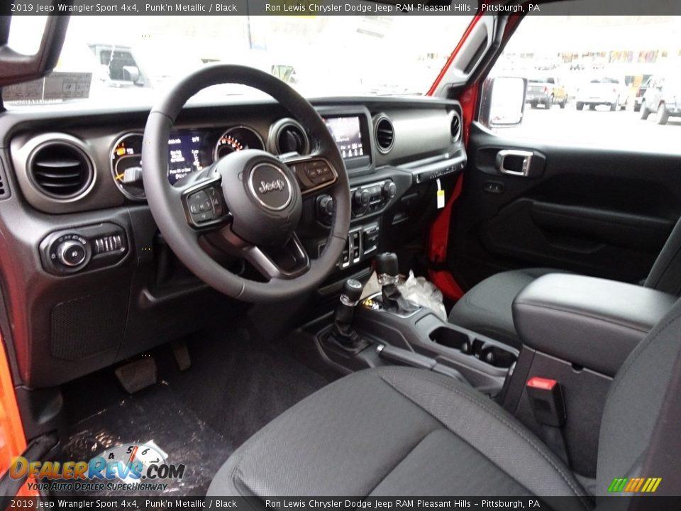 Black Interior - 2019 Jeep Wrangler Sport 4x4 Photo #12