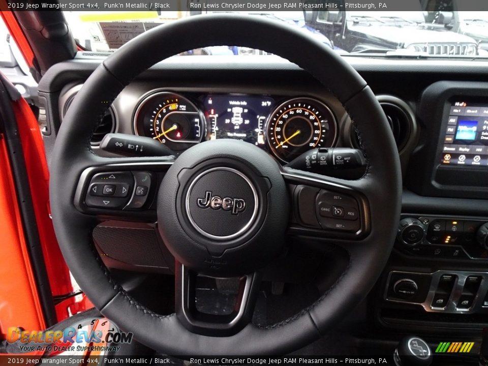 2019 Jeep Wrangler Sport 4x4 Steering Wheel Photo #18