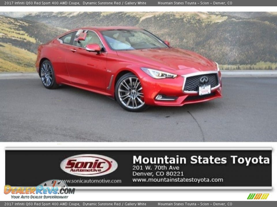 2017 Infiniti Q60 Red Sport 400 AWD Coupe Dynamic Sunstone Red / Gallery White Photo #1