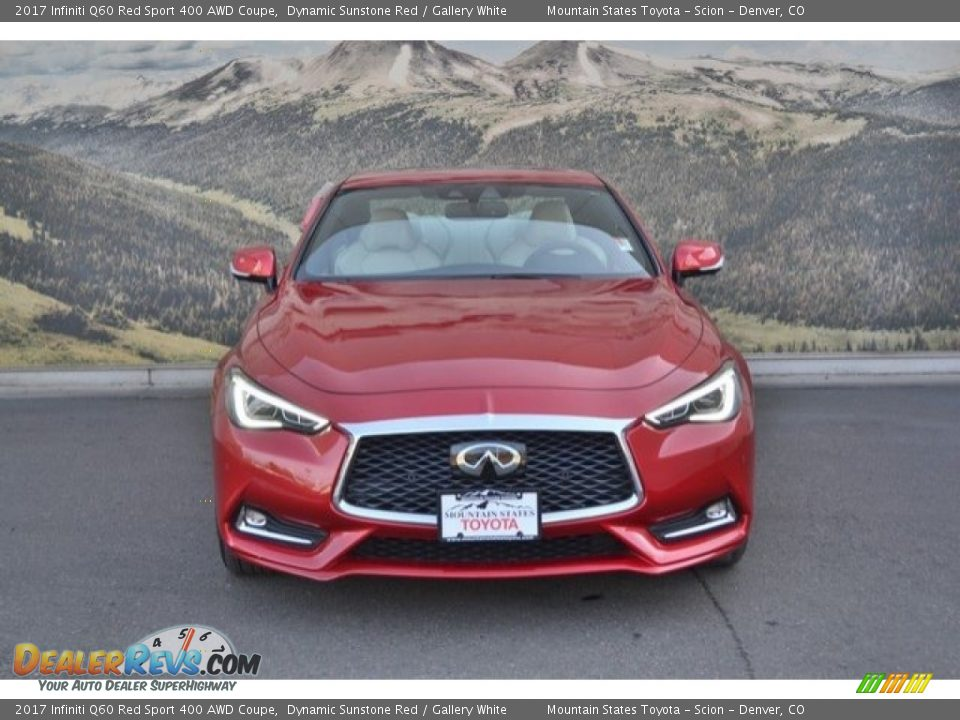 2017 Infiniti Q60 Red Sport 400 AWD Coupe Dynamic Sunstone Red / Gallery White Photo #4