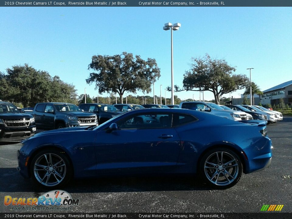 2019 Chevrolet Camaro LT Coupe Riverside Blue Metallic / Jet Black Photo #2
