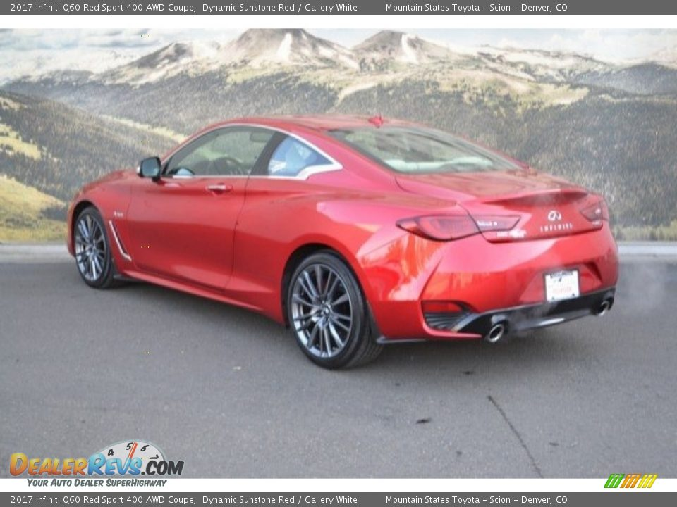 2017 Infiniti Q60 Red Sport 400 AWD Coupe Dynamic Sunstone Red / Gallery White Photo #8