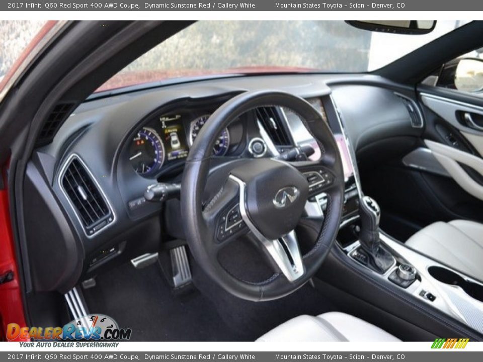 Dashboard of 2017 Infiniti Q60 Red Sport 400 AWD Coupe Photo #10