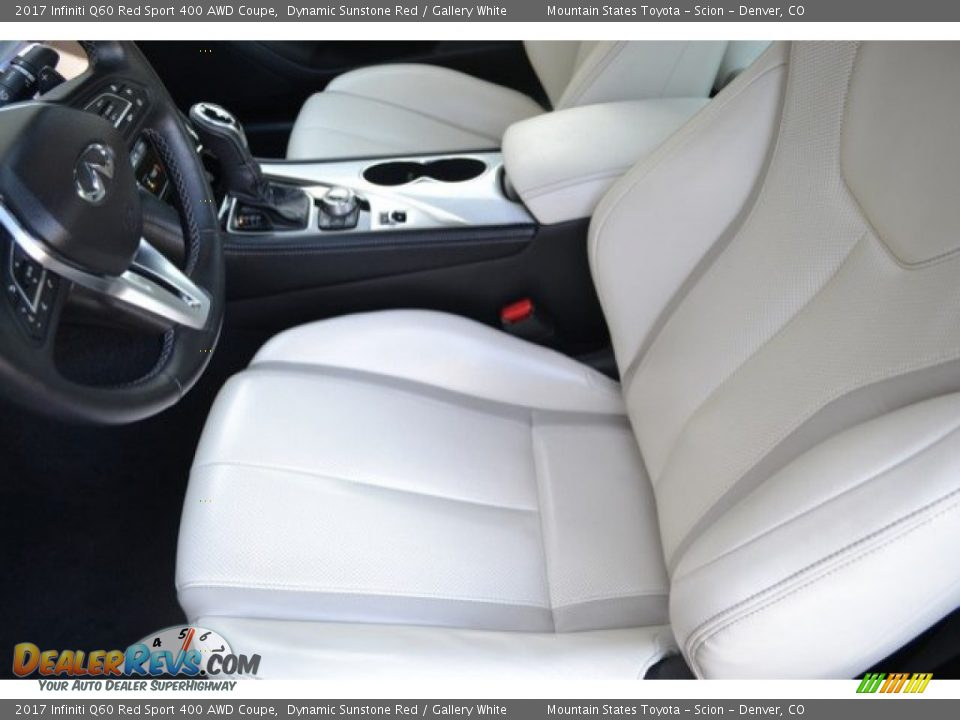 Front Seat of 2017 Infiniti Q60 Red Sport 400 AWD Coupe Photo #11