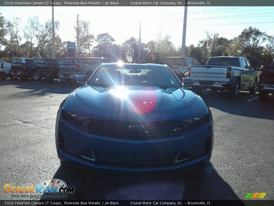 2019 Chevrolet Camaro LT Coupe Riverside Blue Metallic / Jet Black Photo #8
