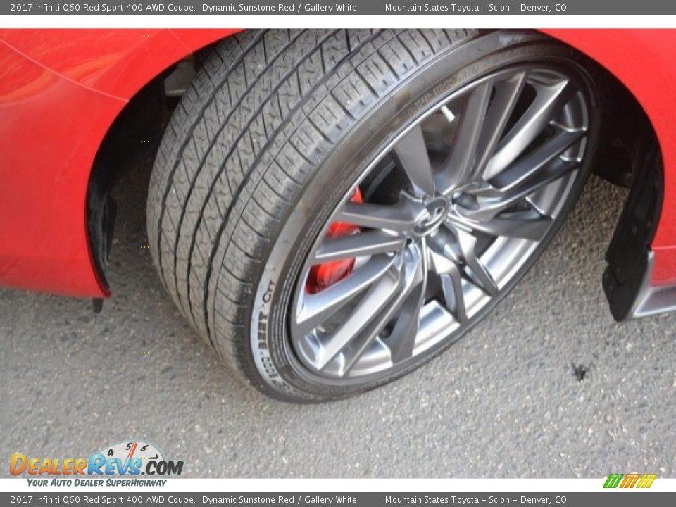 2017 Infiniti Q60 Red Sport 400 AWD Coupe Wheel Photo #29