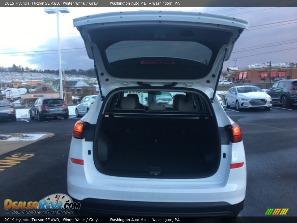 2019 Hyundai Tucson SE AWD Winter White / Gray Photo #10
