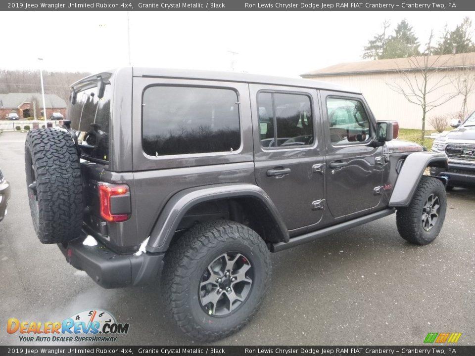2019 Jeep Wrangler Unlimited Rubicon 4x4 Granite Crystal Metallic / Black Photo #5