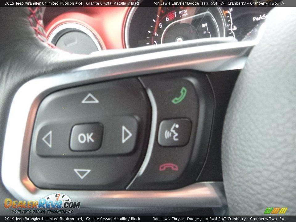 2019 Jeep Wrangler Unlimited Rubicon 4x4 Steering Wheel Photo #20