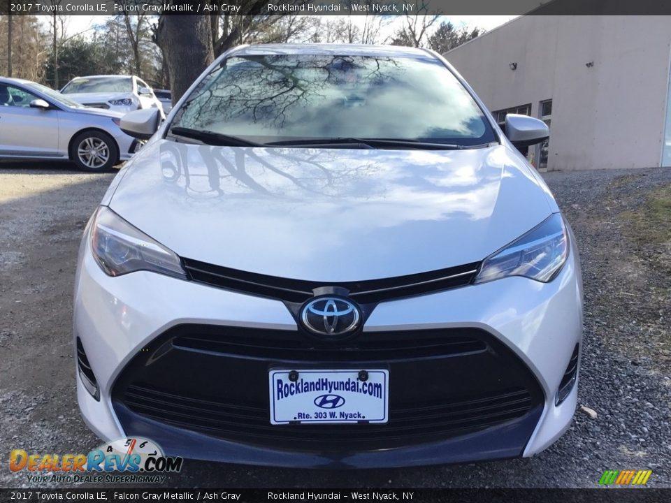 2017 Toyota Corolla LE Falcon Gray Metallic / Ash Gray Photo #2