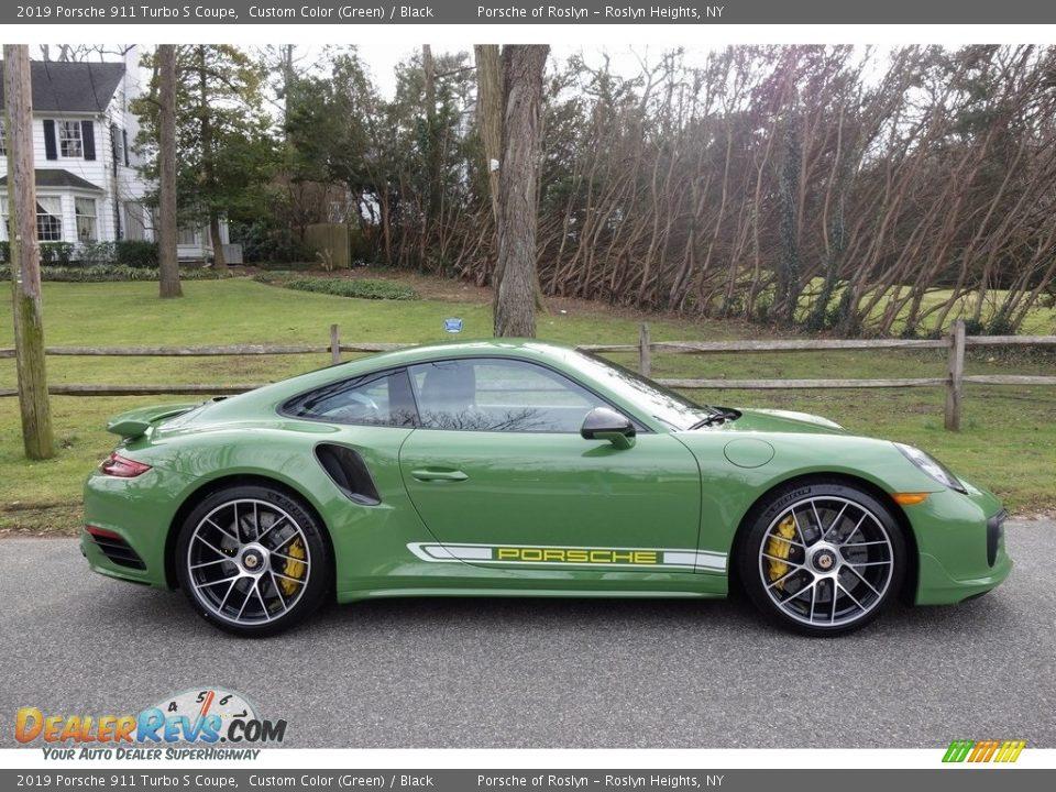 Custom Color (Green) 2019 Porsche 911 Turbo S Coupe Photo #3