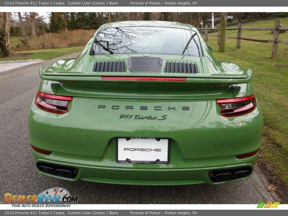 2019 Porsche 911 Turbo S Coupe Custom Color (Green) / Black Photo #5