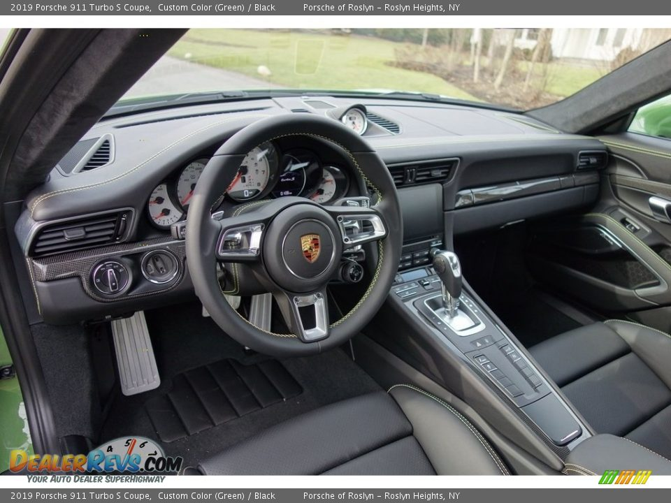 Black Interior - 2019 Porsche 911 Turbo S Coupe Photo #25