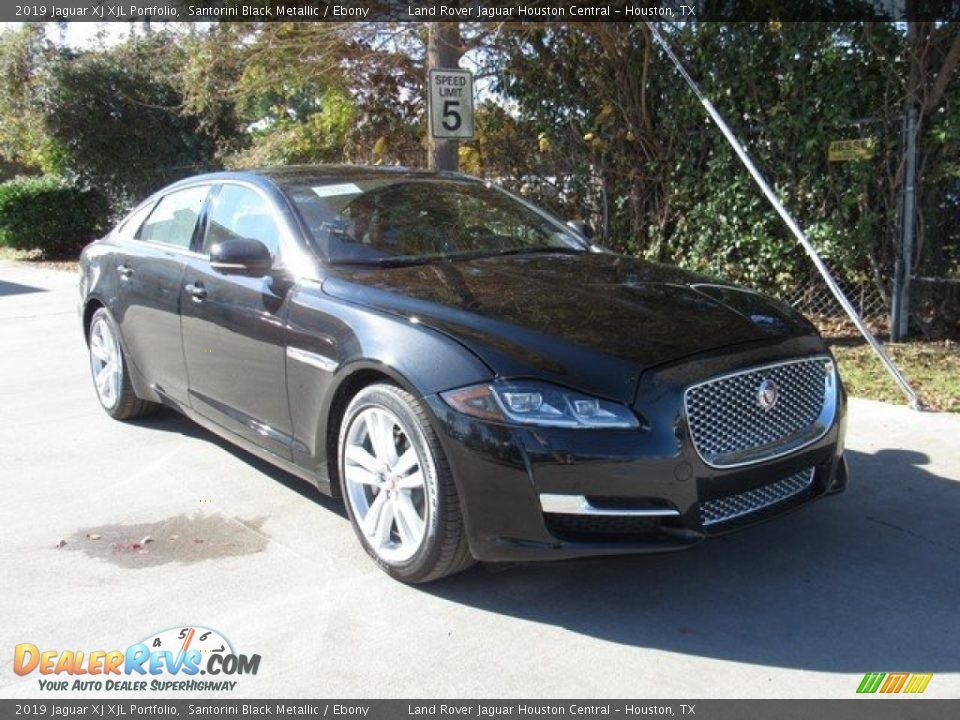 2019 Jaguar XJ XJL Portfolio Santorini Black Metallic / Ebony Photo #2