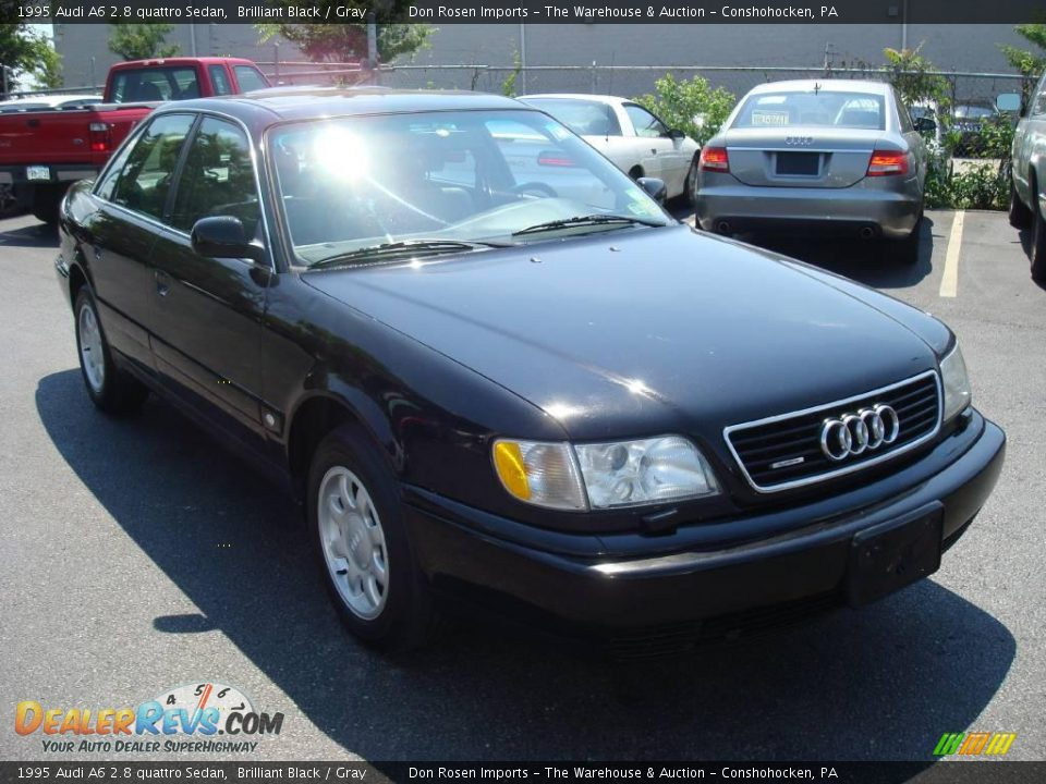 1995 Audi A6 2 8 Quattro Sedan Brilliant Black Gray