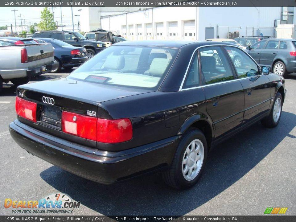 1995 Audi A6 2.8 quattro Sedan Brilliant Black / Gray Photo #7 ...