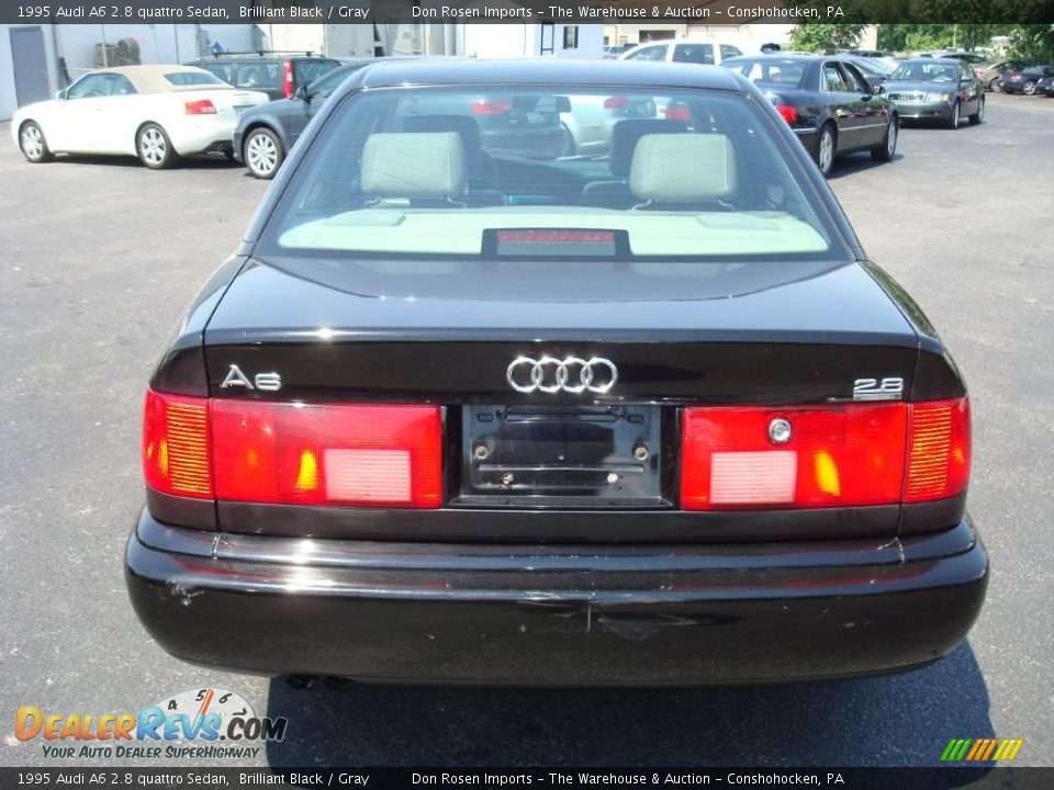 1995 Audi A6 2.8 quattro Sedan Brilliant Black / Gray Photo #8 ...