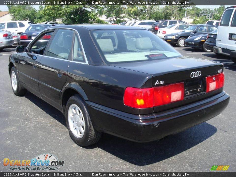 1995 Audi A6 2.8 quattro Sedan Brilliant Black / Gray Photo #9 ...