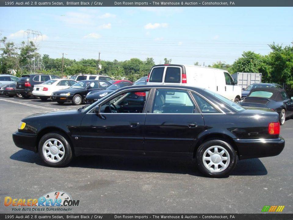 1995 Audi A6 2.8 quattro Sedan Brilliant Black / Gray Photo #10 ...