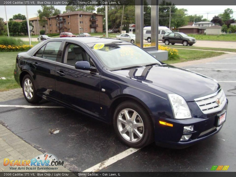 2006 Cadillac STS V8 Blue Chip / Light Gray Photo #3