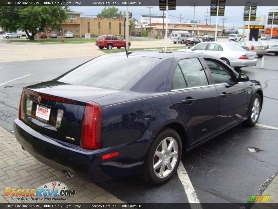 2006 Cadillac STS V8 Blue Chip / Light Gray Photo #4
