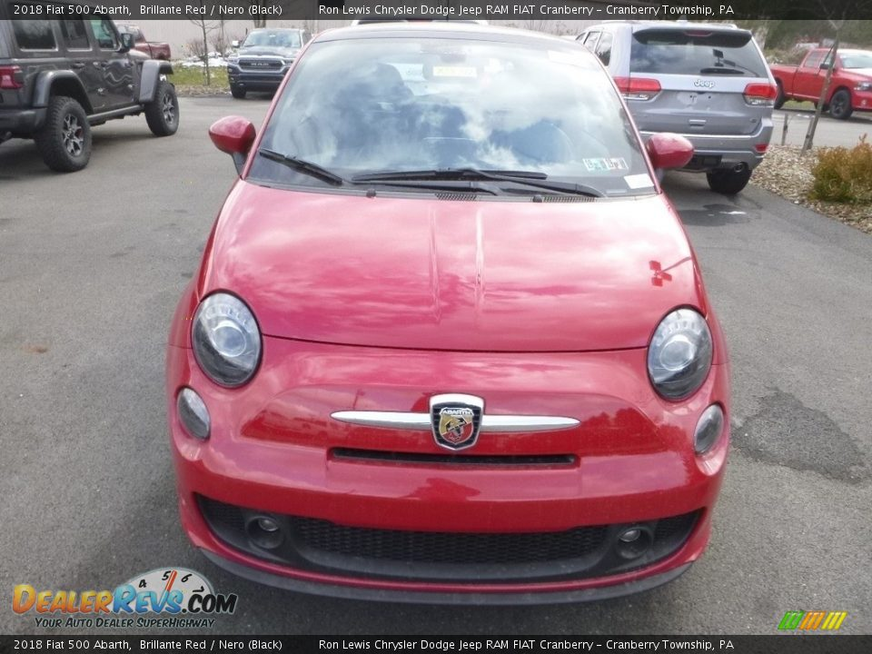 2018 Fiat 500 Abarth Brillante Red / Nero (Black) Photo #9