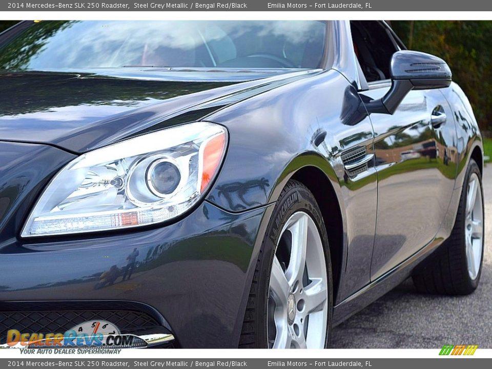 2014 Mercedes-Benz SLK 250 Roadster Steel Grey Metallic / Bengal Red/Black Photo #11